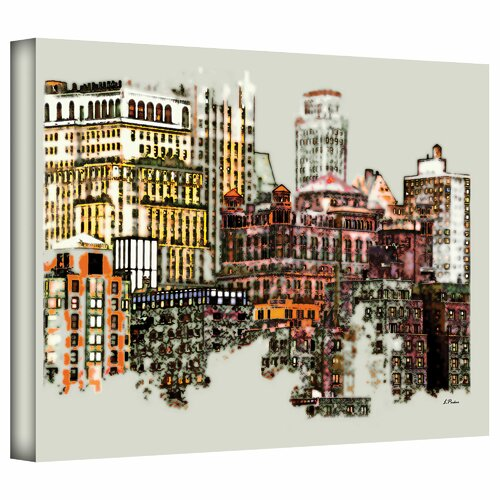 Art Wall 'NYC Manhattan Cluster' by Linda Parker Photographic Print on Canvas