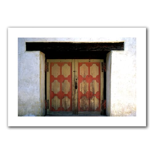 Art Wall 'Mission Door' by Kathy Yates Photographic Print on Canvas