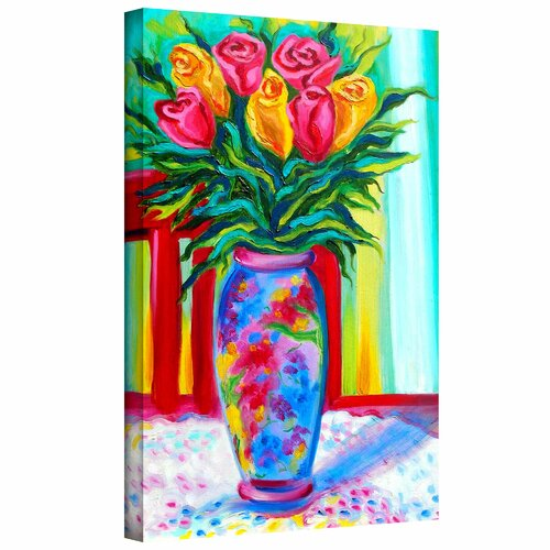 Art Wall 'I Love This Vase' by Susi Franco Graphic Art Canvas