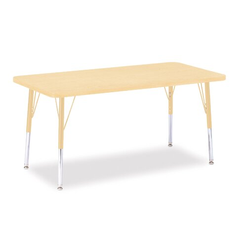 "Jonti-Craft Berries 48"" x 24"" Rectangular Classroom Table"