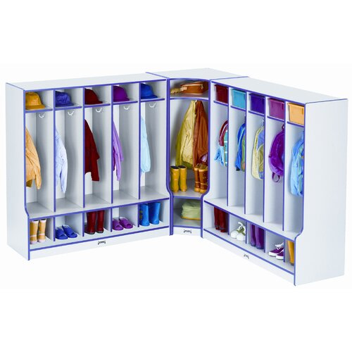 Jonti-Craft 5 Section Coat Locker with Step