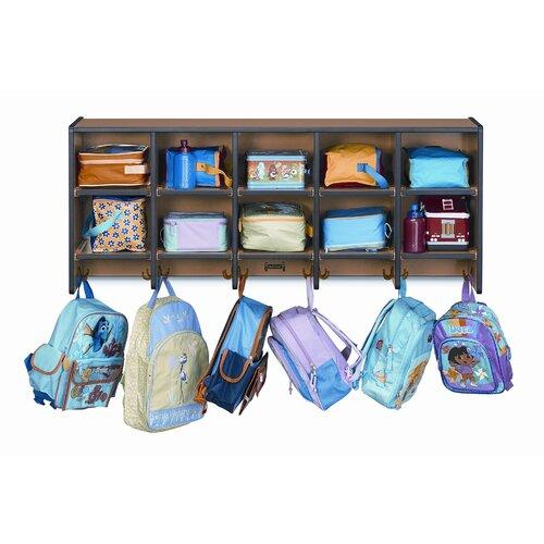 Jonti-Craft 10-Section Wall Mount Sproutz Coat Locker
