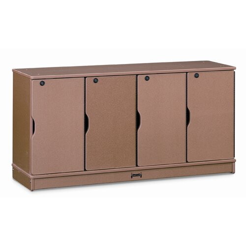 Jonti-Craft 4-Section Sproutz Stacking Lockable Lockers
