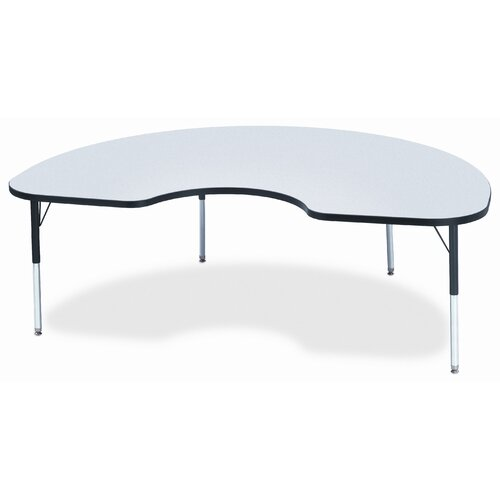 "Jonti-Craft KYDZ 72"" x 48"" Kidney Classroom Table"
