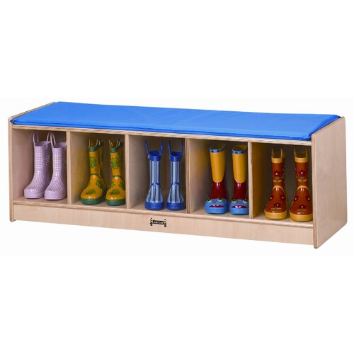 Jonti-Craft 5 Sections Bench Locker with Cushion