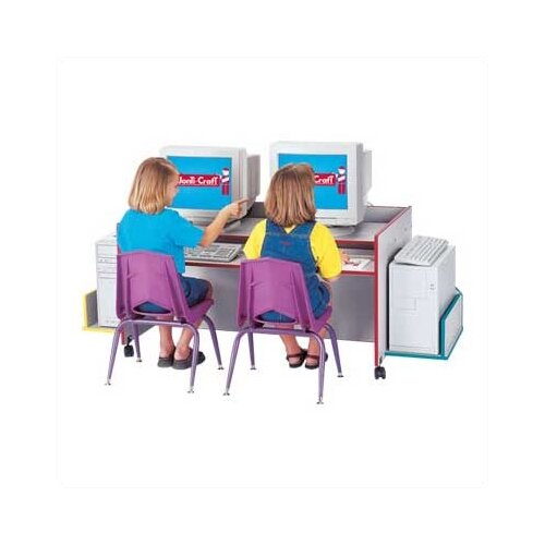 "Jonti-Craft ThriftyKYDZ 48"" W x 30"" D Double Youth Table"