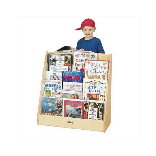"Jonti-Craft 31"" Pick-a-Book Stand with 1 Sided Flush Back"