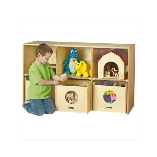 Jonti-Craft See-n-Wheel Shelf 6 Compartment Cubby