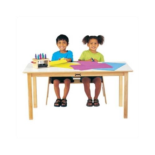 Jonti-Craft Large Multi-Purpose Rectangular Table - White