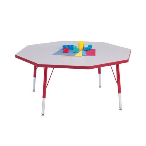 "Jonti-Craft Rainbow Accents KYDZ Toddler Height Activity Table- Octagon (48"" diameter)"