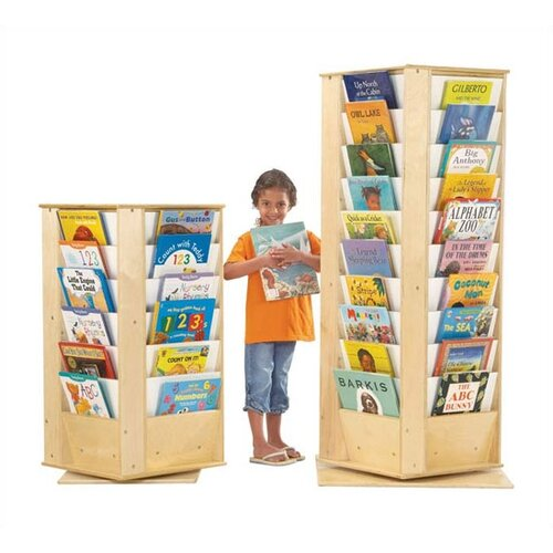 Jonti-Craft KYDZ Revolving Rectangular Book Tower