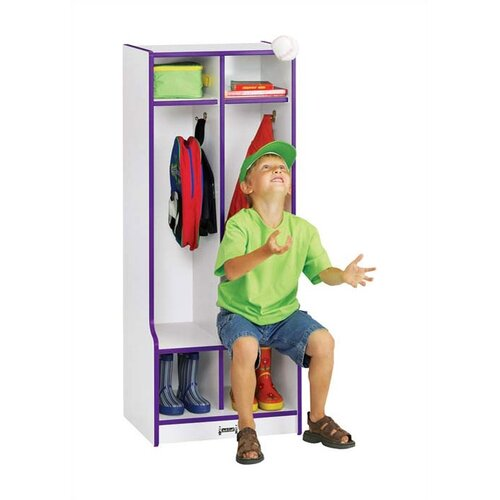 Jonti-Craft Rainbow 2-Sections Double Locker