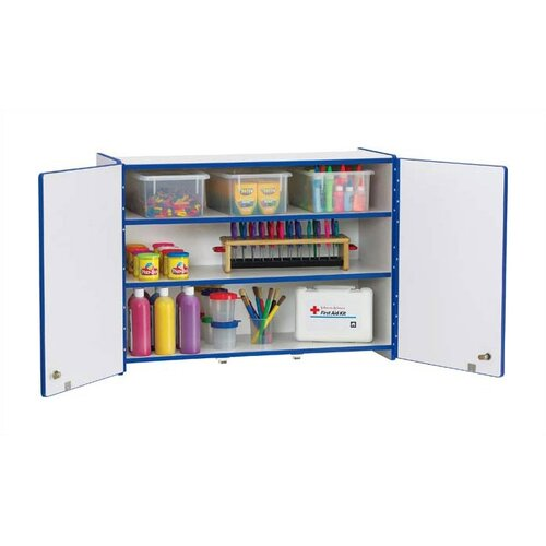 Jonti-Craft Rainbow Accents Lockable Rectangular Wall Cabinet