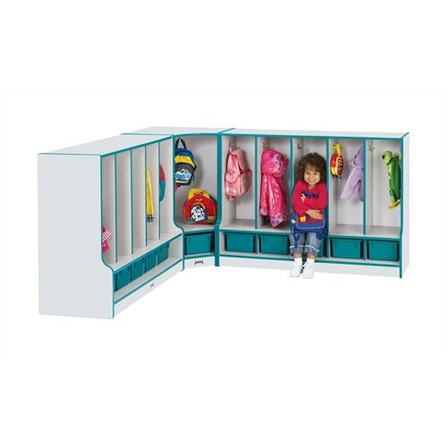 "Jonti-Craft KYDZ Rainbow Accents Coat Locker - 35"" High - Rectangular (48"" x 17.5"")"