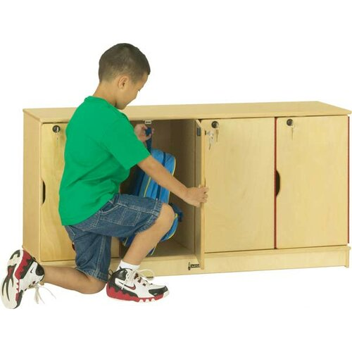 Jonti-Craft 4-Sections Stacking Lockable Lockers