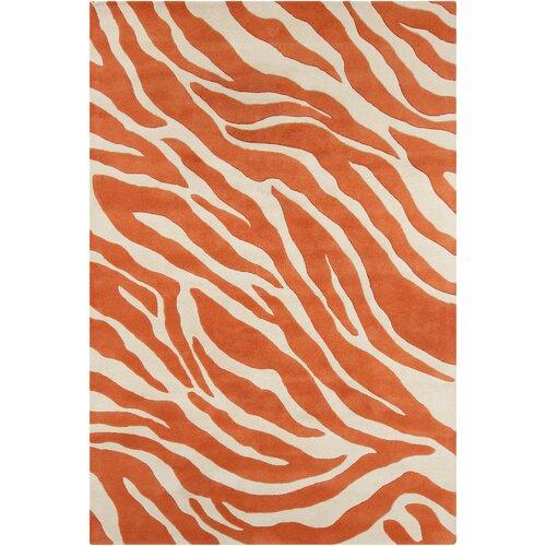 Filament  LLC Cinzia Cream/Orange Abstract Rug
