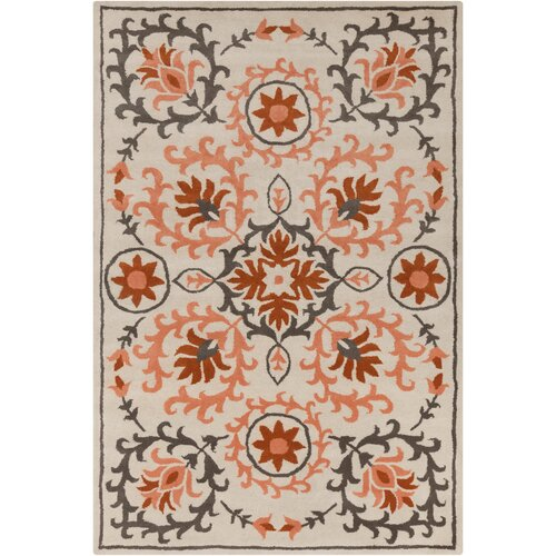 Filament  LLC Cinzia Cream/Rust Floral Rug