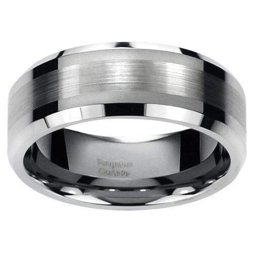 Men's Tungsten Carbide Comfort Fit Band Ring