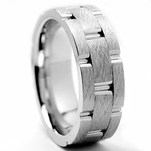 Men's Chrome Comfort Fit Wedding Band