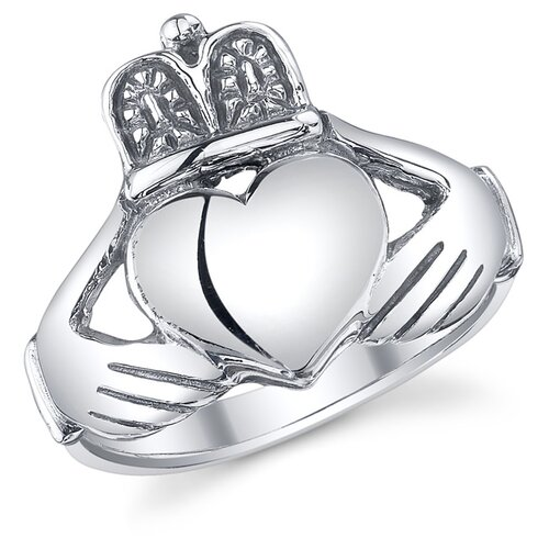 Sterling Silver Irish Claddagh Friendship and Love Ring