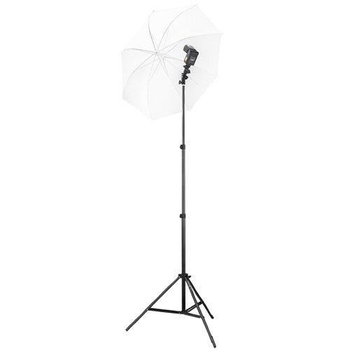 Square Perfect Speedlite Swivel Flash Mount with Umbrella Bracket Light Stand