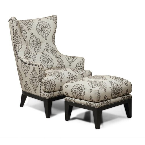 Brewster Wingback Chair and Ottoman