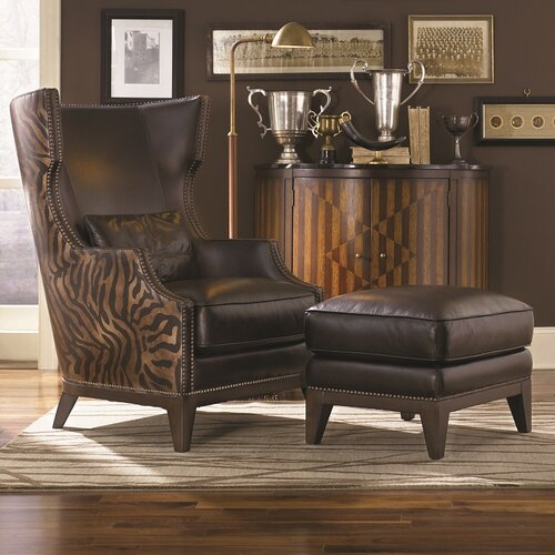 Simon Li Forbes Accent Chair and Ottoman