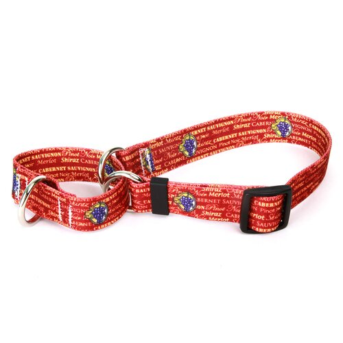 Red Wine Martingale Collar