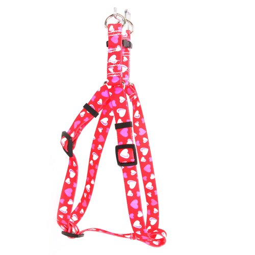 Red Hearts Step-In Harness