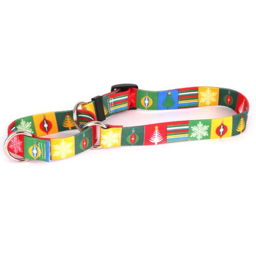 Holiday Blocks Martingale Collar