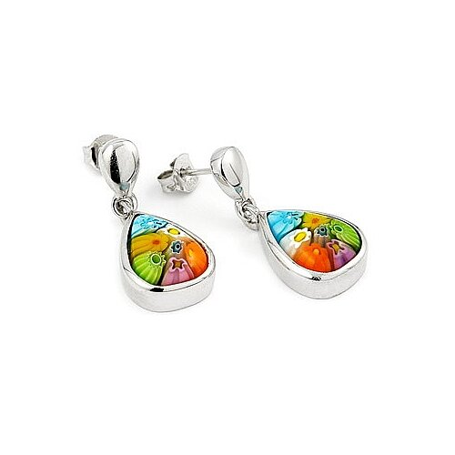 Millefiori Glass Drop Earring