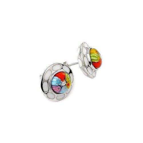 Millefiori Glass Stud Earrings