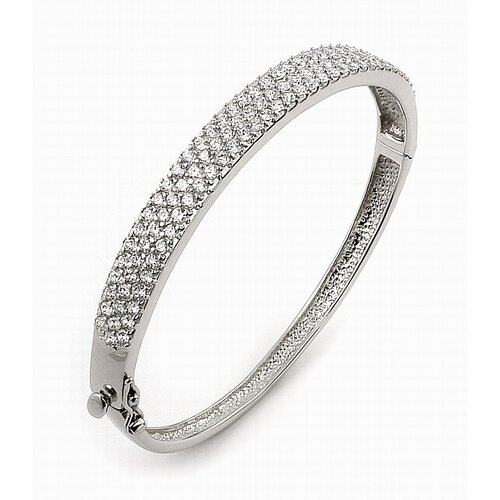 Plutus Partners Pave Cubic Zirconia Bangle Bracelet