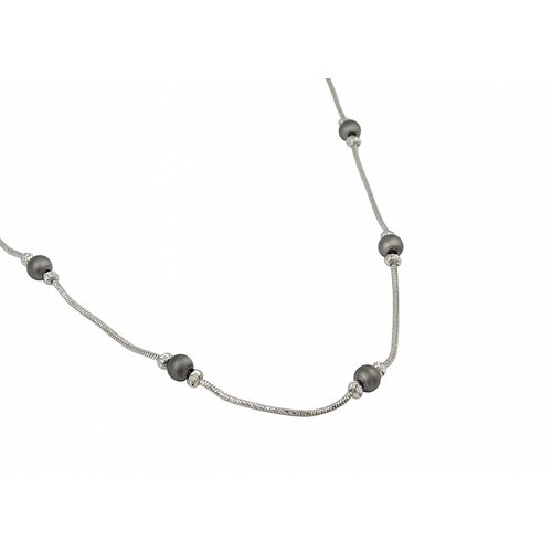 Sterling Silver Plated Beads Link Chain