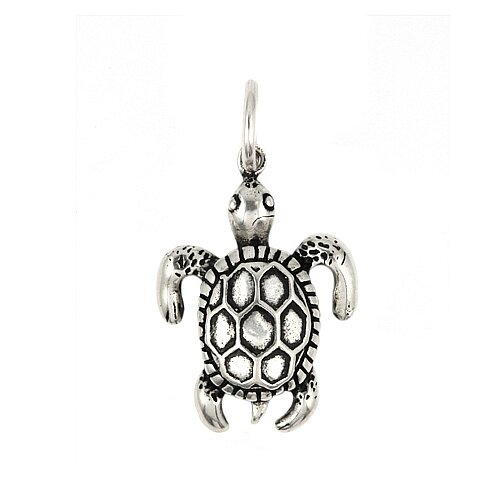 Plutus Partners Plain Sterling Silver Sea Turtle Charm