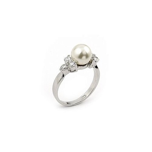 Plutus Partners Sterling Silver Synthetic Cultured Pearl Ring