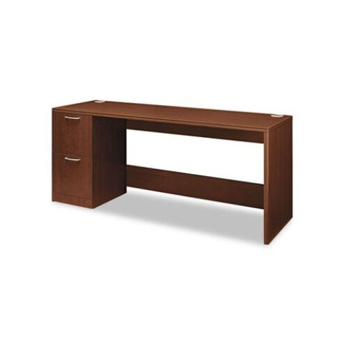 HON Attune Series Computer Desk with Woodgrain PVC Edge Corner