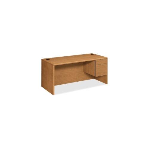 "HON 10700 Series 66"" W Right 3/4 Pedestal Executive Desk"