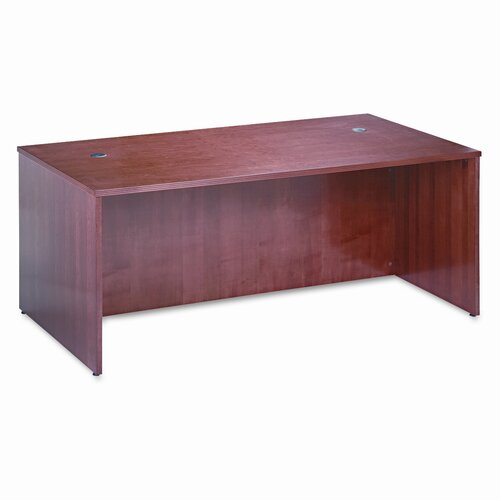 "HON 72"" W BW Veneer Series Rectangular Executive Desk Shell"