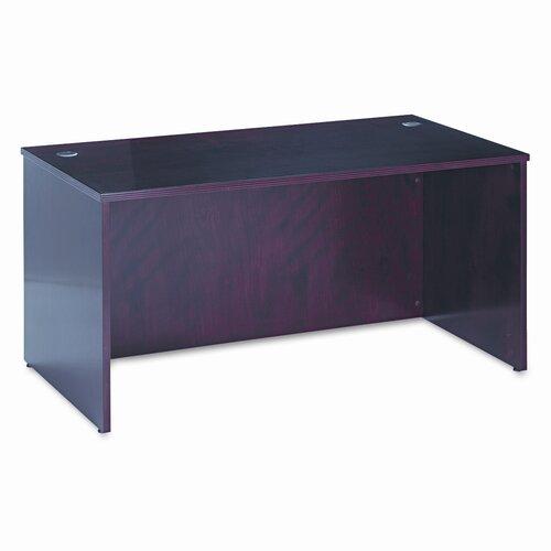 "HON 60"" W BW Veneer Series Rectangular Executive Desk Shell"