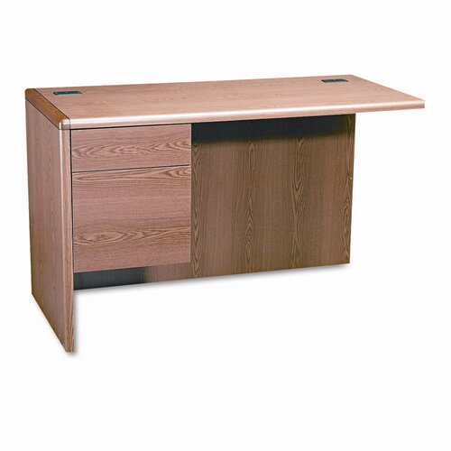 "HON 10700 Series 29.5"" H x 48"" W Left Pedestal Desk Return"