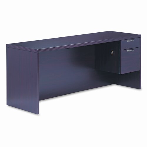 HON 11500 Series Valido Computer Desk with Right Pedestal Credenza
