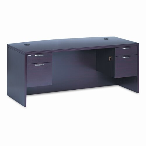 HON 11500 Series Valido Computer Desk with Bow Front Double Pedestal