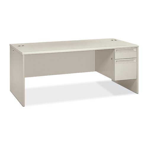 "HON 38000 Series 72"" W Right Pedestal Executive Desk"
