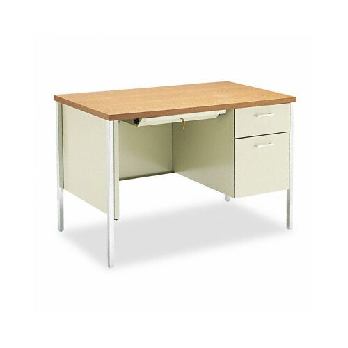 HON 34000 Series Computer Desk with Single Right Metal Pedestal