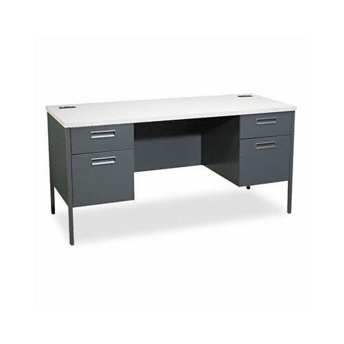 HON Metro Kneespace Credenza Computer Desk with 4 Drawers