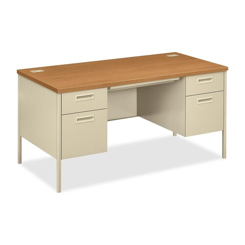 HON Double Pedestal Computer Desk with 2 Box Drawers