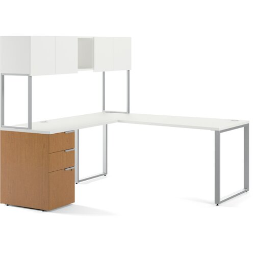 HON Voi Executive Desk with Stackon Storage