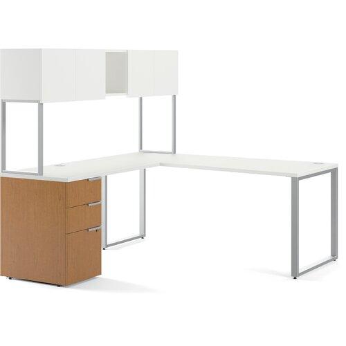 HON Voi Executive Desk with Stackon Storage