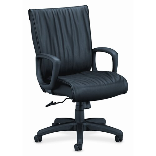 HON High-Back Leather Executive Chair with Arms